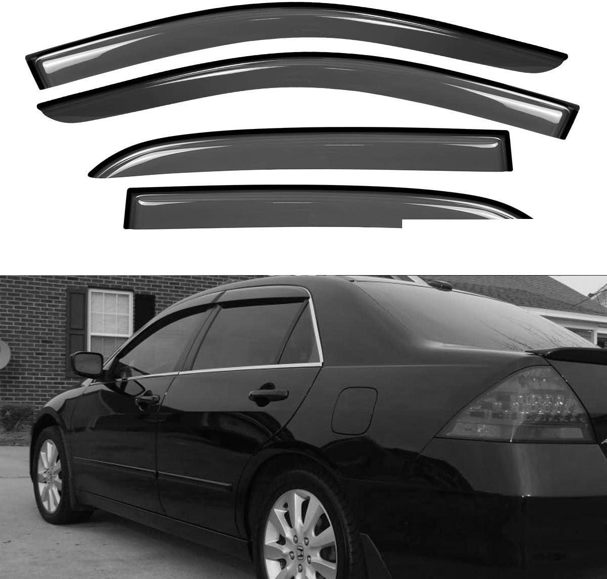 UVIAPW 4pcs Compatible WithHon.da4D 4Dr Spring new work Sedan Max 76% OFF Sun Ven Rain Guard