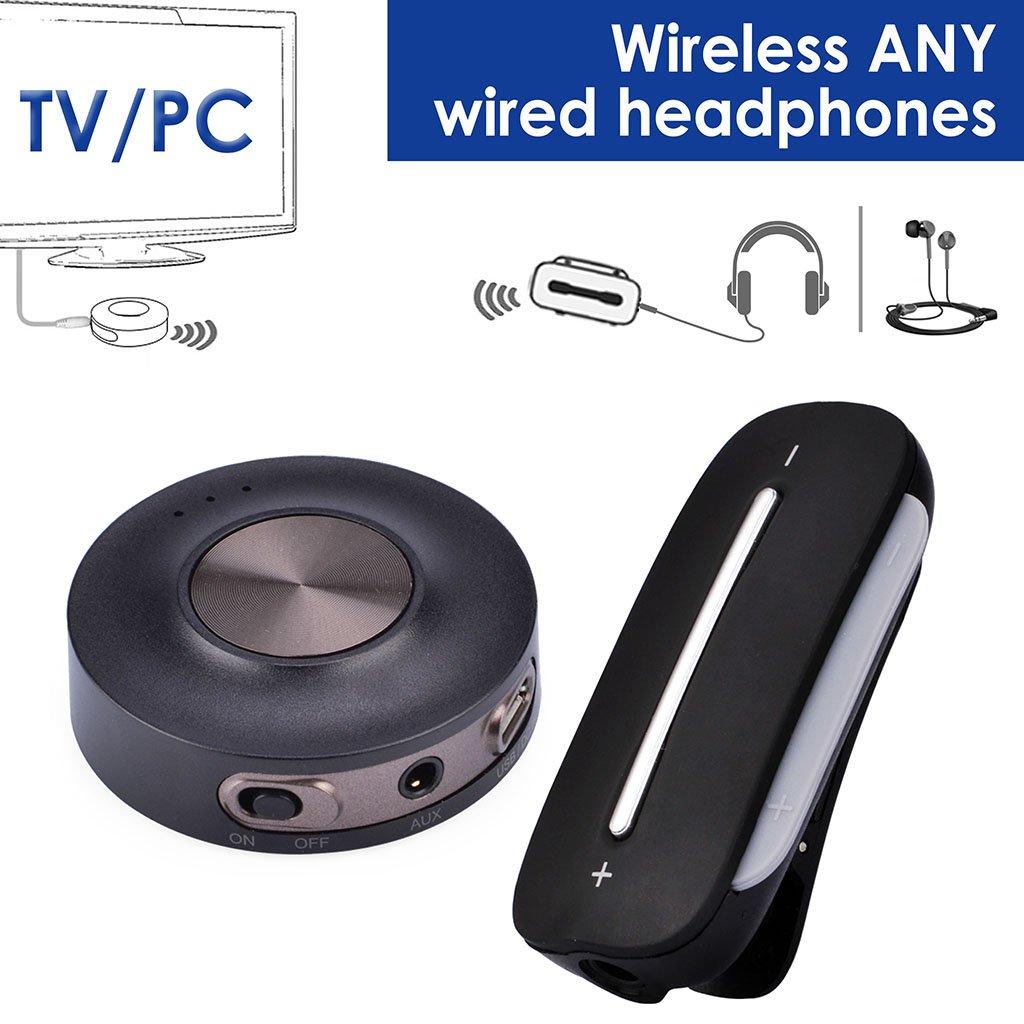 Avantree HT3187 Set Transmisor y Receptor Bluetooth 4.2 para TV, PC (Soporta AUX, RCA, PC USB, NO OPTICA), aptX Baja LATENCIA, Pre-Emparejado, Bluetooth para Auriculares/Altavoces con Cable: Amazon.es: Electrónica