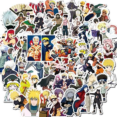 WayOuter Naruto Aufkleber 100 PCS Anime Aufkleber für Jungen Laptop Skateboard Wasserdichter Autoaufkleber