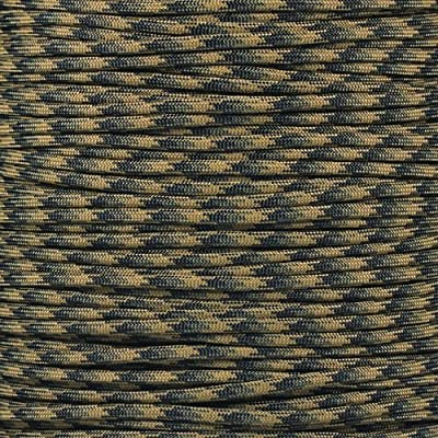 PARACORD PLANET 10 20 25 50 100 Foot Hanks and 250 1000 Foot Spools of Parachute 550 Cord Type III 7 Strand Paracord (Tactical Camo 100 Feet)