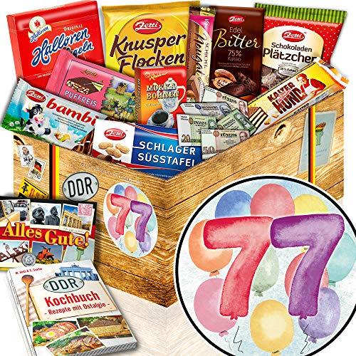 77. Geburtstagsgeschenk + Ossi Schokolade + 77 Geburtstag Geschenke Opa