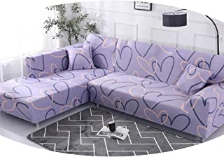 ZFADDS Geometric Pattern 1 Piece/ 2 Pieces Sofa Cover for L Shaped Sectional Sofa Couch Cover Sofa Towel Sofa Covers,Color 1,3-Seater 190-230Cm