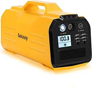 Aeiusny Portable Power Station, 296Wh/400W Solar Generator Power Supply CPAP Backup..