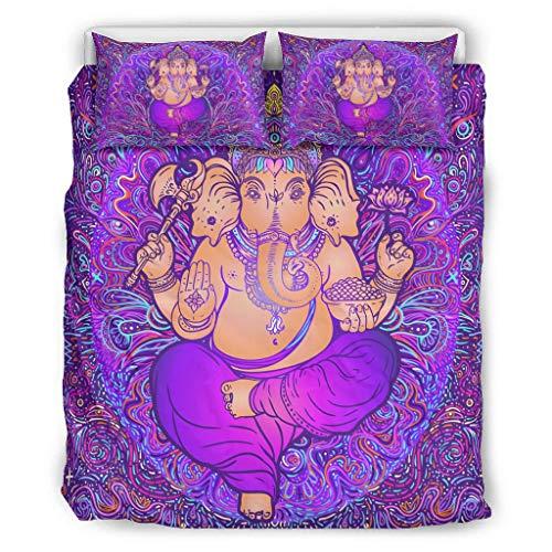 Bohohobo Conjuntos Retro 3 piezas almohada elefante suave hogar europeo estilo gris color decorativo cama almohada conjunto blanco 264x229cm