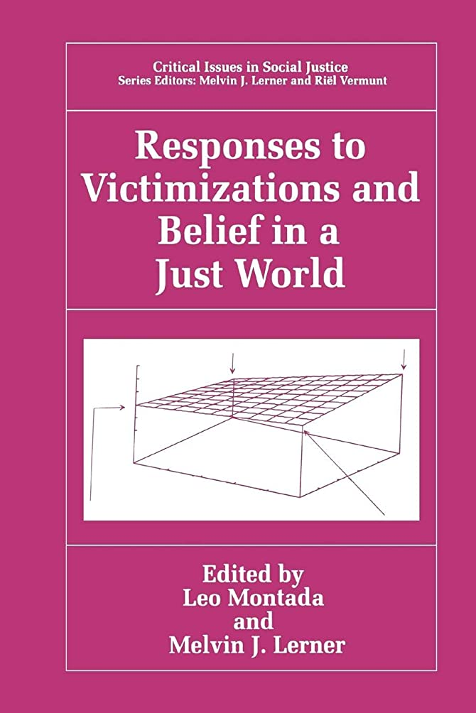 ジレンマ真空服を片付けるResponses to Victimizations and Belief in a Just World (Critical Issues in Social Justice)