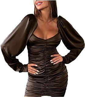 Women Off Shoulder Sexy Bodycon Dress, Ladies Solid Evening Party Dress Mini Short Dress