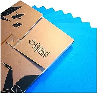"Cyan Origami Paper | 100 Sheets, 6"" Square | Pantone Process Cyan"