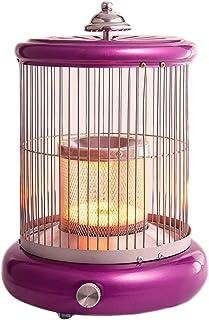 LTLJX Calefactor Radiador Halógeno, Eléctrico Calentador 1000W Calor Control de Temperatura Infinito con Antivuelco Protección,Púrpura
