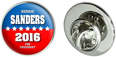 Graphics and More Bernie Sanders for President 2016 Election Campaign Round Metal Lapel Hat Pin Tie Tack Pinback