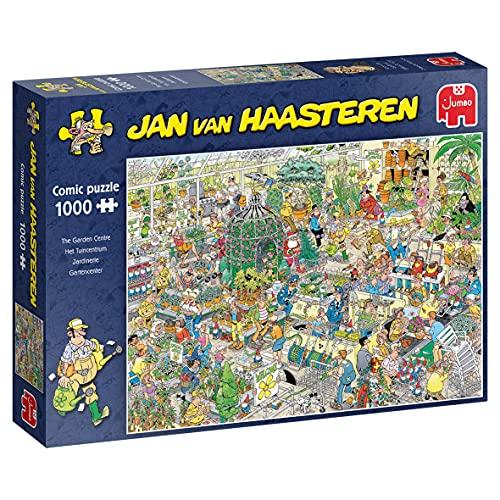 Jumbo Puzzles 19066 Jan Van Haasteren-Das Gartencenter-1000 Teile Puzzlespiel, Mehrfarben