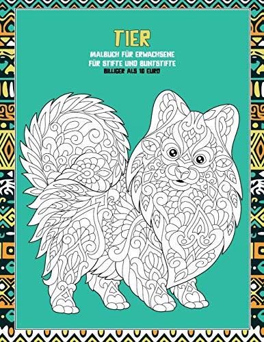 Malbuch für Erwachsene für Stifte und Buntstifte - Billiger als 10 Euro - Tier