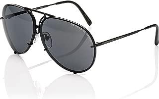 PORSCHE DESIGN P'8478D Aviator Sunglasses Black Matte Frame Size 63mm + Extra Lens