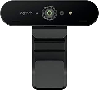 Logitech BRIO 4K Ultra HD Webcam with 5x Digital Zoom - 960-001106, Black,4096 x 2160 - PC