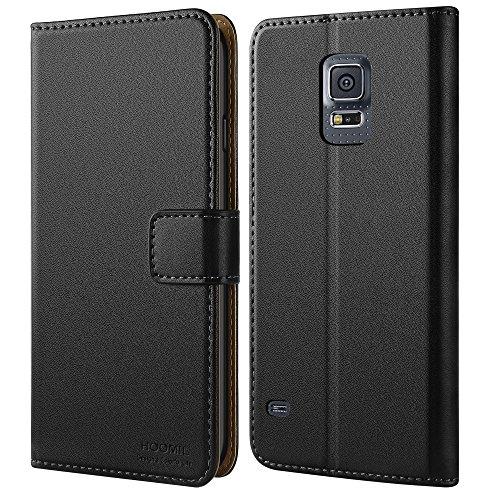 HOOMIL Funda Compatible con Samsung Galaxy S5 Carcasa - Negro