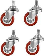Zwenkwielen 4 stuks/zwenkwiel 1,5 inch schroefstang Redsilent rollicht Pvc-wielmeubilair Universeel | zwenkwielen
