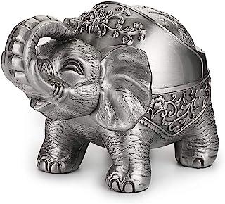 Hipiwe Elephant Windproof Ashtray with Lid, Desktop Metal Cigarette Ashtray Holder for..