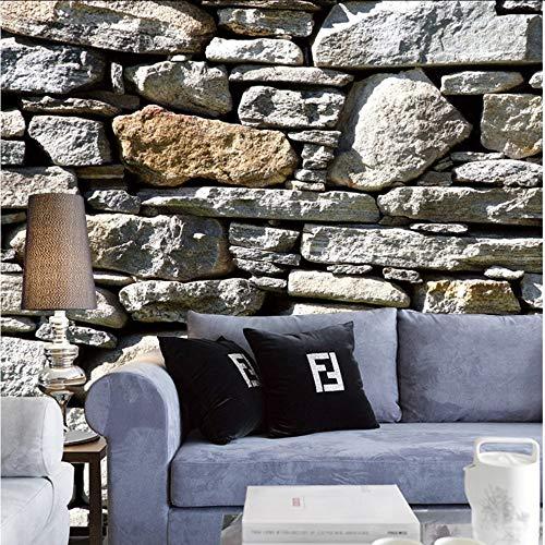Knncch Fototapete Kaffee Thema Benutzerdefinierte Tapete Malerei Wandfassaden Steinwand 3D Tapete Mural Für Wohnzimmer Hotel-280X200Cm