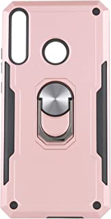 Shockproof Back Cover with Ring Kickstand for Huawei Y7P - Rose Gold