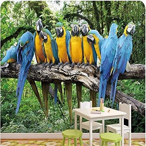 Leben Zubehör 3D Benutzerdefinierte Foto Wandbild Wallpaper Hd Schöne Papagei Singen Die Natürliche Schönheit Großes Wandbild