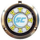 Shadow-Caster SCR-24 Bronze Underwater Light - 24 LEDs - Bimini Blue/Great White