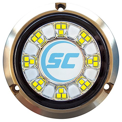 Shadow-Caster LED Lighting Shadow-Caster SCR-24 Bronze Underwater Light - 24 LEDs - Bimini Blue/Great White