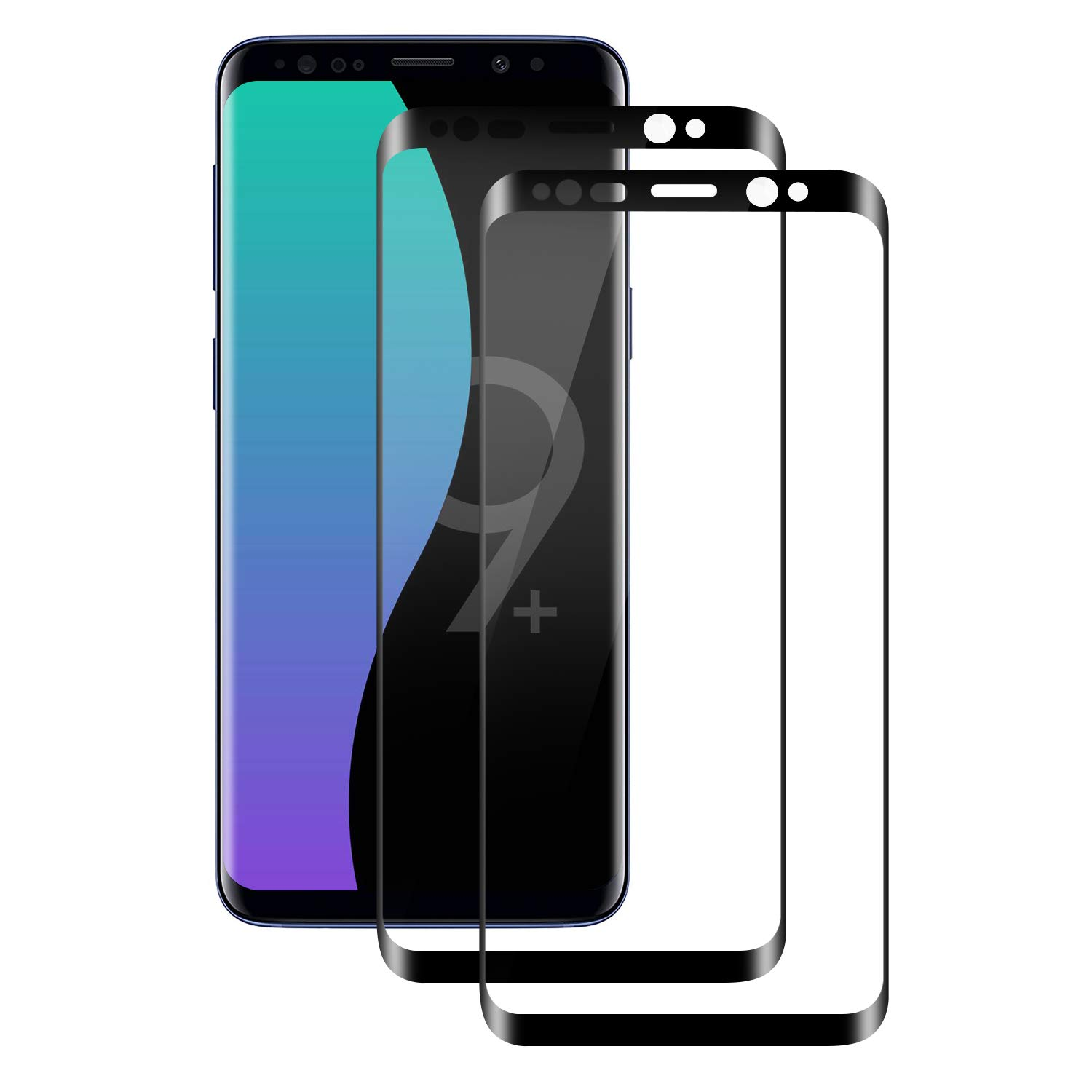 POOPHUNS Samsung Galaxy S9 Plus Screen Protector, [2 Pack] 9H Hardness Tempered  Glass Protective Film for Samsung Galaxy S9 Plus, [Finger-Proof] No Scratch  [Bubble-Free] - Buy Online in India. | [missing {{category}}