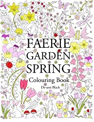 faerie garden spring colouring book one sided coloring book