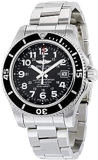 Breitling - Superocean II 42 reloj automático de acero inoxidable con esfera negra para hombre A17365C9-BD67SS