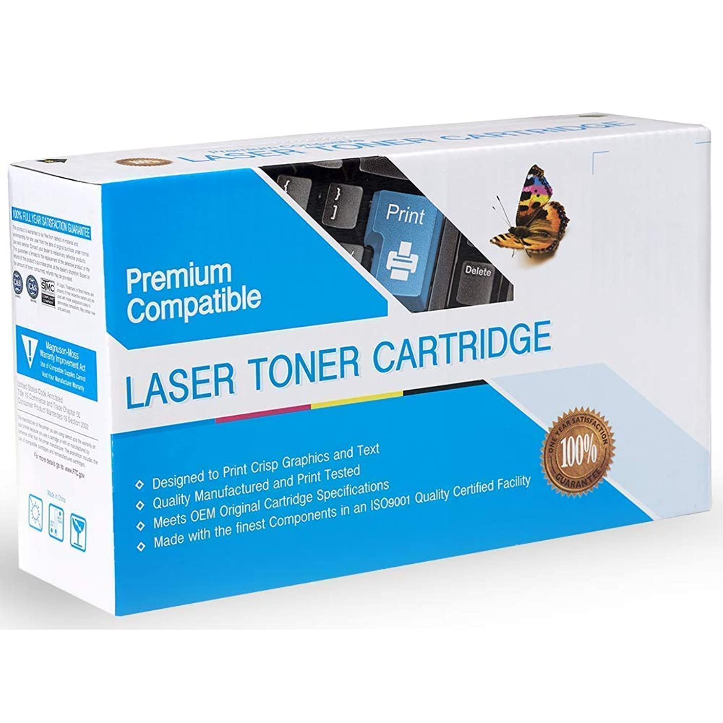 Rose Office Supply Compatible Ink Cartridge Replacement for HP CE400A, 507A, Works with: Color Laserjet Enterprise 500 Color M551, M551DN, M551N, M551XH, MFP 570DN, MFP M575DN, MFP M575F Black
