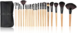 Anself - Set de brochas profesionales para maquillaje kit 24 piezas + bolsa color negro