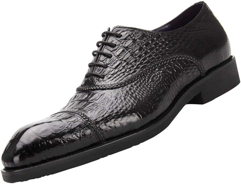 FuweiEncore Männer Derby Schuhe Nachahmung Krokodil Business-Kleid Schuhe (Farbe : Schwarz, Größe : 43EU) B07KK5DSWR    Hohe Qualität