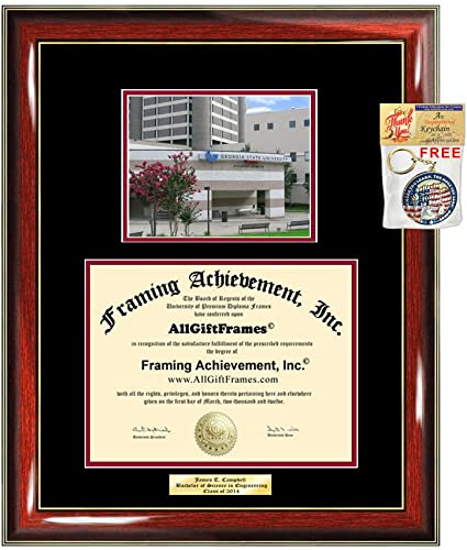 Diploma Frame Georgia State University Gsu Graduation Gift Idea Engraved Picture Frames Engraving Degree Large Cheap Graduate Bachelor Masters Mba Phd Doctorate Amazon Com