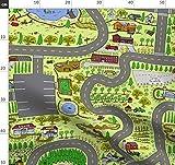 Spielmatte, Straße, Landkarte, Für Kinder, Handgemalt,