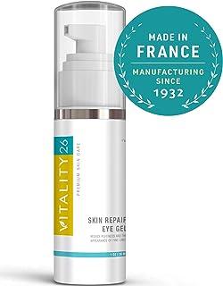 Vitality26 Under Eye Cream for Dark Circles, Eye Bags & Puffiness | Eye Gel Treatment made with all Natural Avocado, Soja & Vitamin E