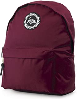 HYPE Plain Backpack Burgundy Schoolbag BAS17137 Hype bags