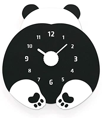 CJH Creative Black Bear Animal Pendulum Child Cute Cartoon Clock Decoration Clock