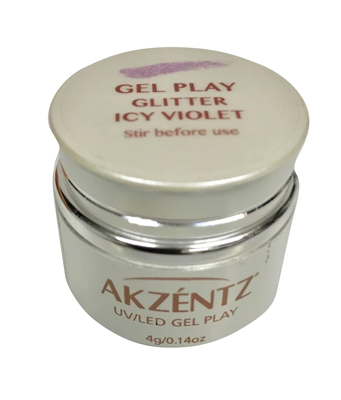 スカリー洗剤到着AKZENTZ(アクセンツ) UV/LED ジェルプレイ グリッター アイシーバイオレット 4g