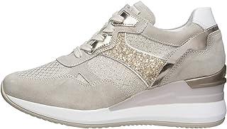 Nero Giardini E010465D Sneakers Donna in Pelle, Camoscio E Tela