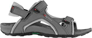 Karrimor Mens Antibes Sandals Strap Hook and Loop Everyday Summer Beach Shoes Charcoal UK 8 (42)