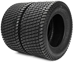 TRIBLE SIX Set of 2 Tubeless Turf Tires 24x12-12 Lawn & Garden Mower Tractor Cart Tires 6 Ply Tubeless Tire P332 24x12x12 24x12.00-12