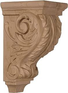 Ekena Millwork CORW03X04X07ACMA 3 1/2-Inch W x 4-Inch D x 7-Inch H Small Acanthus Wood Corbel, Maple