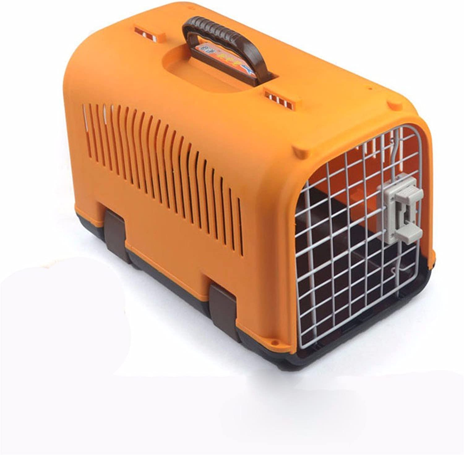 Pet Online Pet Carrier Outdoor Transport Box Breathable and Durable Airline Approved Animals Carrier,orange