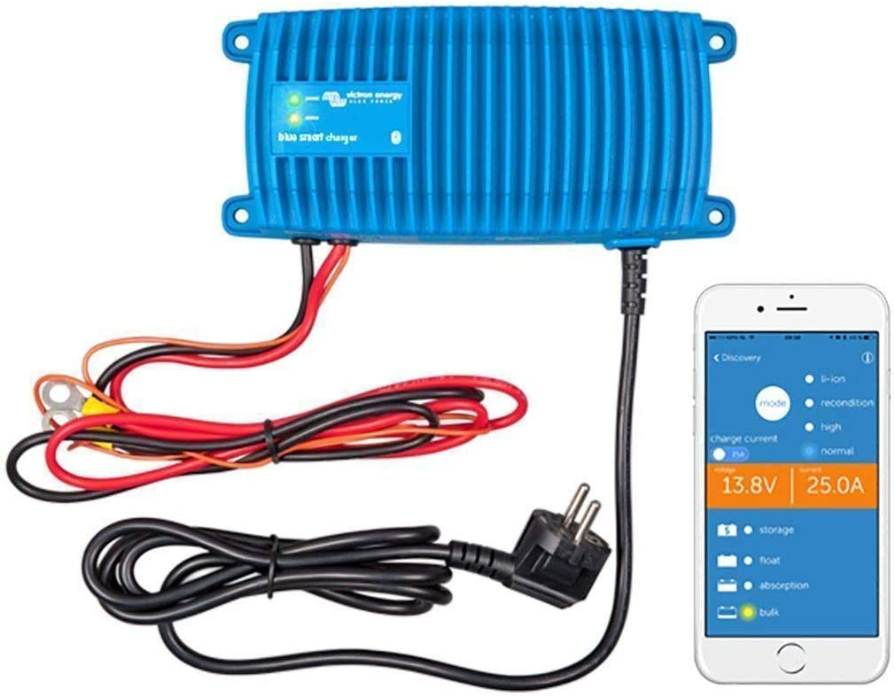 Victron Energy BPC120713006 Blue Smart IP67 Cargador 12/71 230 V CEE 7/7, 12V/7A