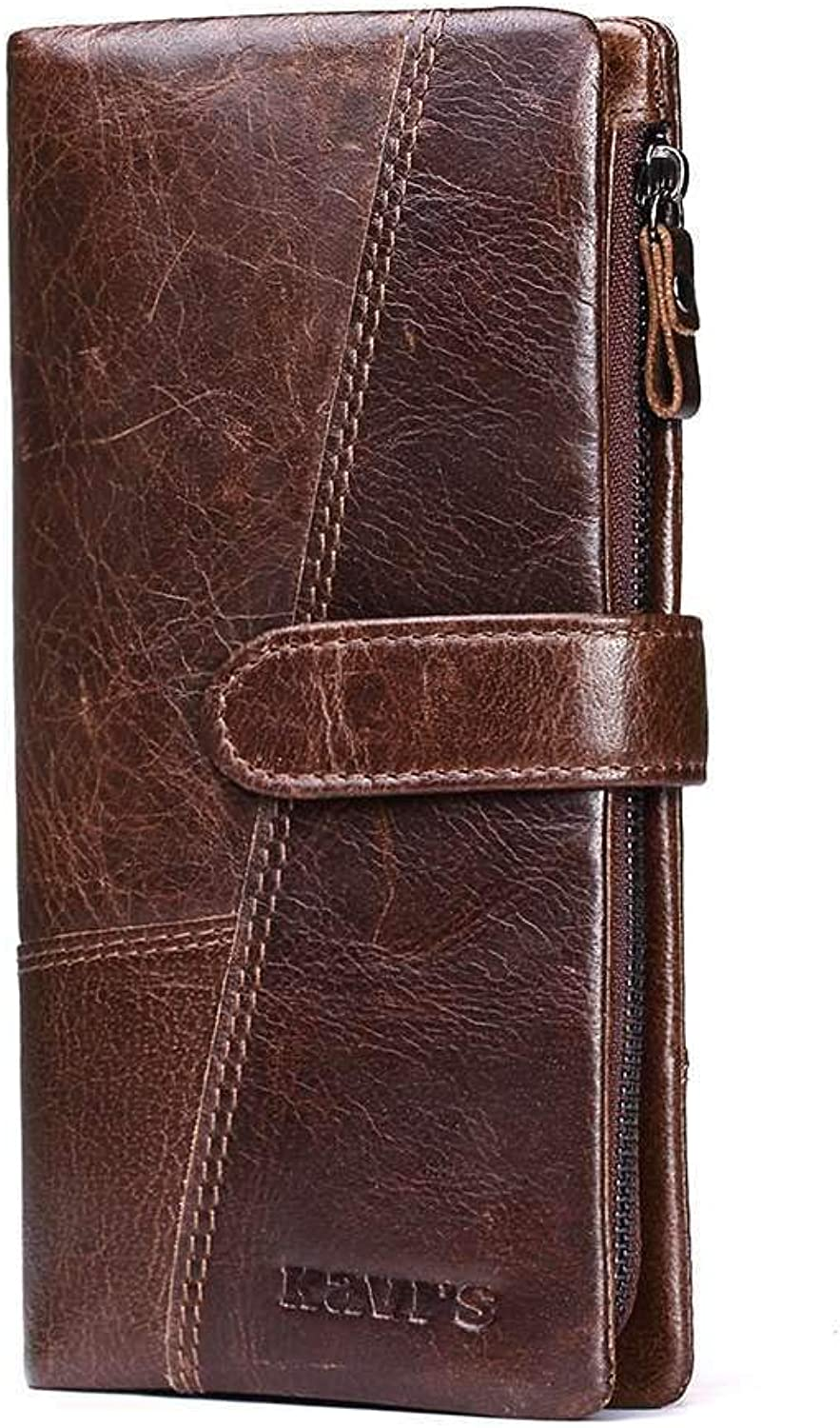 Fashion Ladies Leather Wallet, RFIDBlocking Soft Leather Long Wallet, Multiple Credit Card Slots and Coin Purses