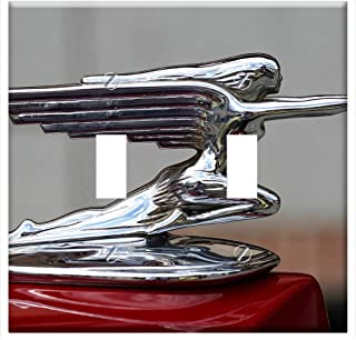 Switch Plate Double Toggle - Hood Ornament Packard Antique Car Spain Classic