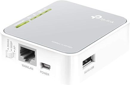 TP-Link TL-MR3020 - Enrutador de viaje Wi-Fi portátil (3G/4G de 300 Mbps, Modo 3G/4G de soporte / modo de punto de acceso / modo cliente, sin necesidad de configuración, enchufe de la UE)