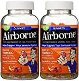 Airborne Gummies Blast of Vitamin C 75 Gummies (Pack of 2)