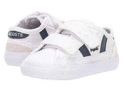 Lacoste Kids Sideline 319 1 (Toddler) (White/Navy) Kid