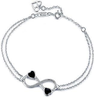 Cable Chain Cuff Bracelet Anklet Valentine Wedding Engagement Wrist Bracelet Womens Girls Twisted Cable Bangle Bracelet with Hook Clasp Flongo Cable Bangle Bracelet
