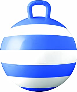 Hedstrom Blue Striped Hopper Ball, Kid's Ride-on Toy, Bouncy Hopping Ball with Handle - 15 Inch